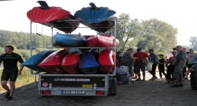 Chałupki - Ostatni spływ kajakowy 28.09.2009