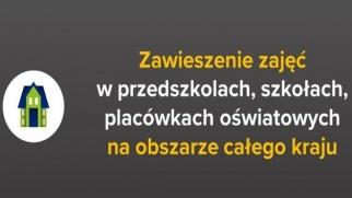Zawieszenie zajęć dydaktyczno-wychowawczych w placówkach oświatowych